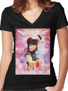 BABYMETAL - ANGEL OF LOVE Women's Fitted V-Neck T-Shirt