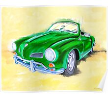 Retro Cool - VW Karmann Ghia Poster