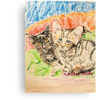 Two Kittens Canvas Print
