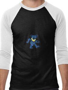 Dancing bear blue and yellow Men's Baseball ¾ T-Shirt