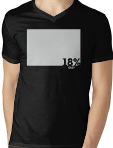 18% Grey Test Tee Mens V-Neck T-Shirt