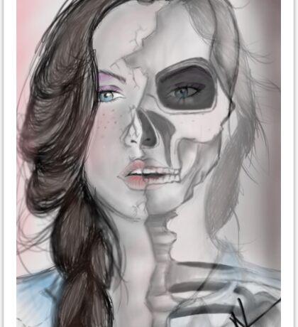 Faded- Digital Art  Sticker