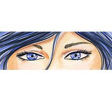 The Eyes Have It - Blue Photographic Print