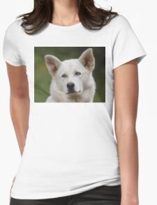 Working Dog Portrait Womens Fitted T-Shirt