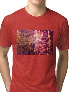 Long Exposure Fairylights Tri-blend T-Shirt