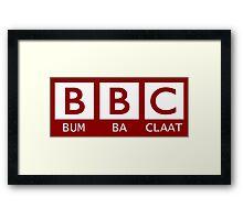 BBC - Bumba Claat Framed Print