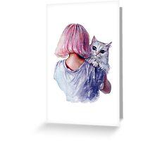 Pink Cuddles Greeting Card