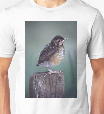 Baby Robin Portrait Unisex T-Shirt