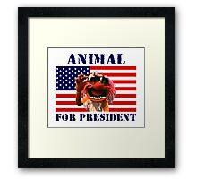 Animal for President Framed Print