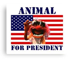 Animal for President Canvas Print