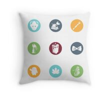 Doctor Who Items Throw Pillow