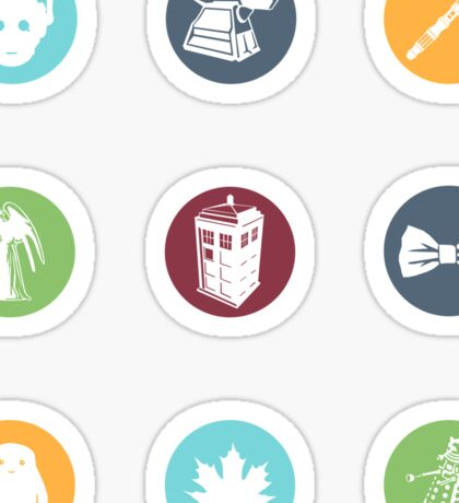 Doctor Who Items Sticker
