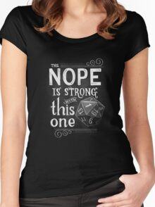 The NOPE is Strong with This One Women's Fitted Scoop T-Shirt