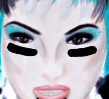 Football Make-up Girl Sticker