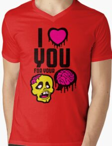 (valentine) brainz Mens V-Neck T-Shirt