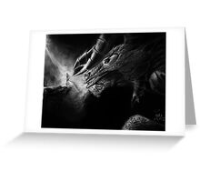 Valley of the Shadow Original Charcoal art Greeting Card