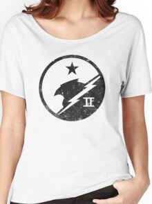 Blue Team Distressed Women's Relaxed Fit T-Shirt
