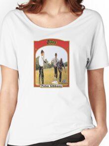 Peter Gibbons Baseball Card Women's Relaxed Fit T-Shirt