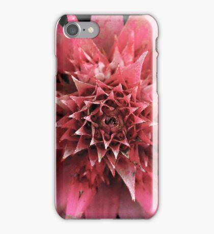 Pink Spike Flower iPhone Case/Skin