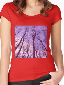 forest sky Women's Fitted Scoop T-Shirt