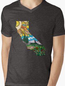California is Love Mens V-Neck T-Shirt