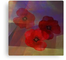 Summer promise with red poppies Canvas Print