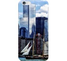 Schooner Seen From Liberty State Park iPhone Case/Skin