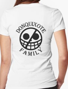 Donquixote Family (Black Version) Womens Fitted T-Shirt