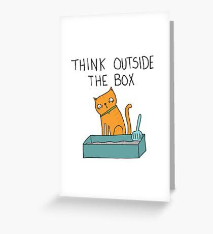 Creative Cat Greeting Card