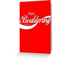 Enjoy Bouldering Greeting Card