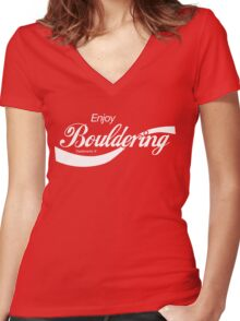 Enjoy Bouldering Women's Fitted V-Neck T-Shirt