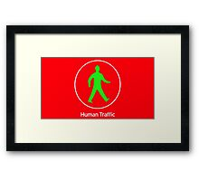 Human Traffic red Framed Print