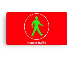 Human Traffic red Canvas Print