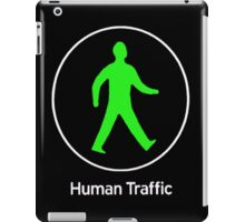 Human Traffic black iPad Case/Skin