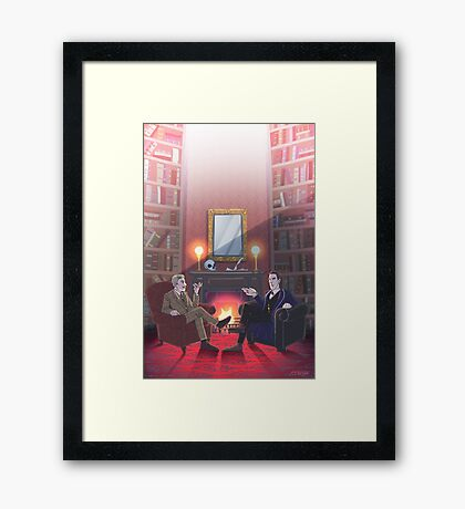 Discussion at 221B Framed Print