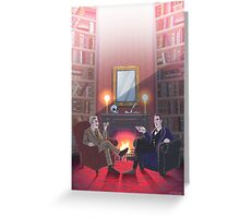 Discussion at 221B Greeting Card