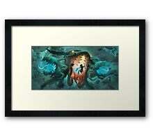 Inoculating the Water Dragon  Framed Print