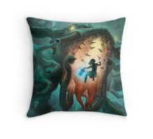 Inoculating the Water Dragon  Throw Pillow