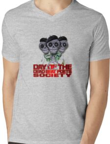 Day of the Dead Beat Poets Society Mens V-Neck T-Shirt