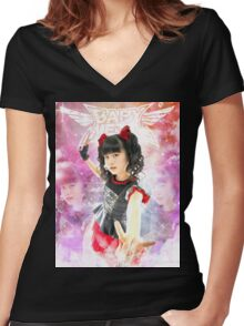 BABYMETAL - ANGEL OF DANCE Women's Fitted V-Neck T-Shirt