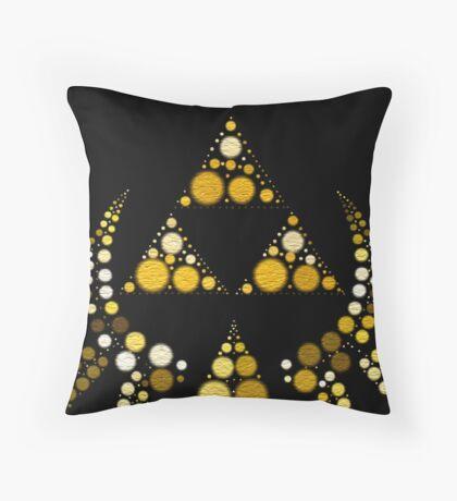 Triforce Large Dots Throw Pillow