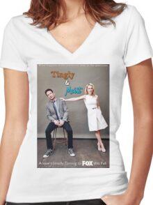 Tingly & Moist: The Merchandise Women's Fitted V-Neck T-Shirt