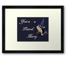 You're a Lizard, Harry Framed Print