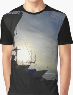 Boats At Dusk Graphic T-Shirt