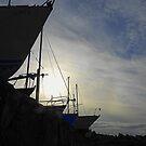 Boats At Dusk by Fara