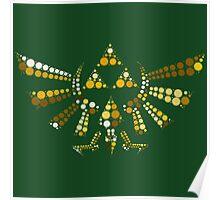 Triforce Dots (Green) Poster
