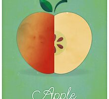 Apple (green) - Natural History Fruits by RedHillPrints