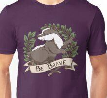 Be Brave Badger Crest Unisex T-Shirt
