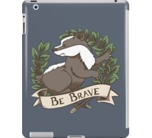 Be Brave Badger Crest iPad Case/Skin
