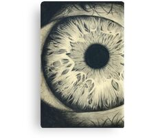 Charcoal Eye Canvas Print